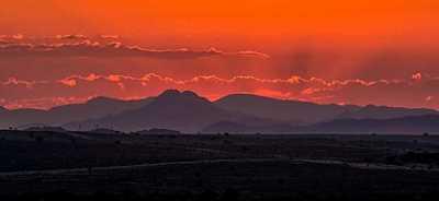 Karoo Sunset by landscape photographer Nick Cadle