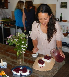 Roushanna adds  pelargonium flavoured beetroot relish to Fynbos feast.