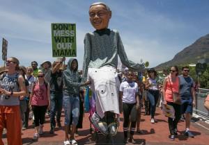 Megan de Beyer Peoples Climate March Cape Town 2015