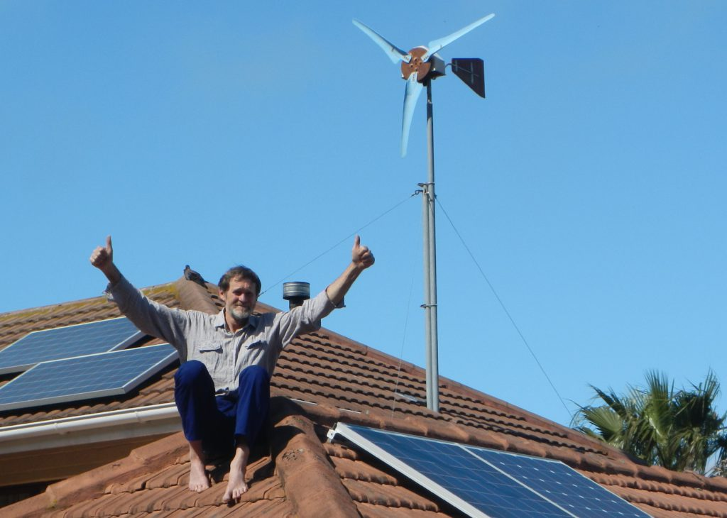 My home with wind & solar