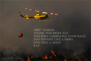 Tribute to Bees Marais Helicopter  pilot