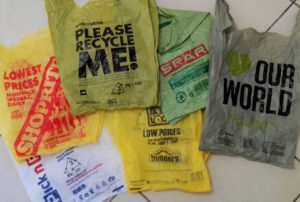 In spite of recycle messages our recycler has to send these shopping bags to landfill..